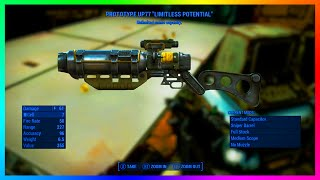 """Fallout 4 Unlimited Ammo Capacity Legendary Weapon """"Prototype UP77"""" Laser Rifle Location & Guide!"""