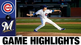Hendricks tosses shutout to lead Cubs to Opening Day win | Cubs-Brewers Game Highlights 7/24/20