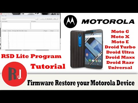 Universal method to unbrick or firmware restore your Motorola Android phone or tablet plus unroot