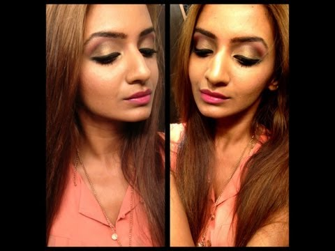 Urban Decay Naked Palette Tutorial: Bollywood Indian Party Bridal Makeup Look video