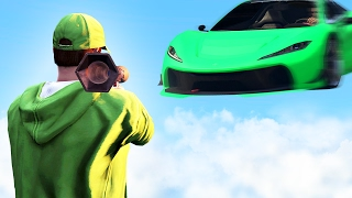 DODGE THE 1000MPH CARS! (GTA 5 Funny Moments)