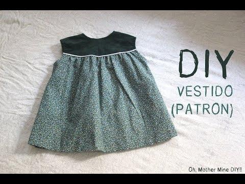 DIY Como hacer vestido de niña patrones incluidos talla 6 meses - 6 años