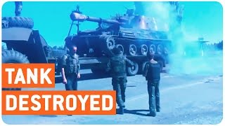 Tank Gets Destroyed
