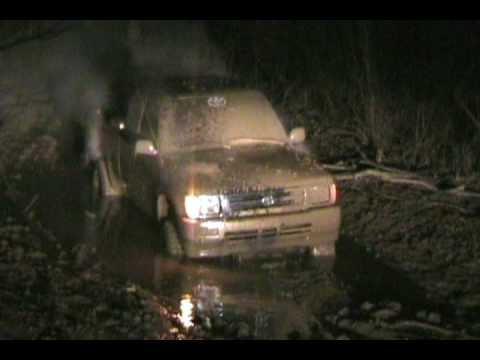 Toyota Mud-riding at Night Video