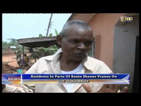 Residents in parts of Benin commend Gov. Oshiomhole