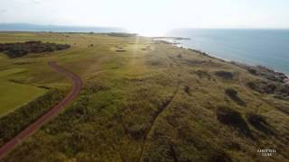Gullane Golf Club from the air  -  2015 Scottish Open venue