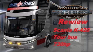 American Truck Simulator. Scania Tour Bus Review.