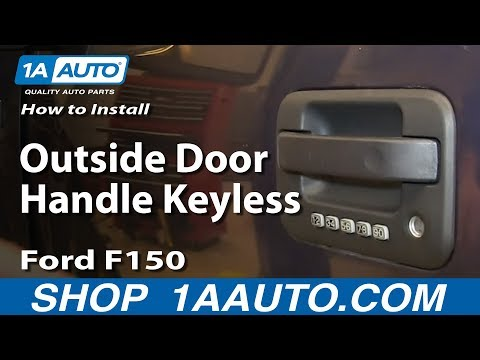 How To Install Replace Outside Door Handle Keyless Entry 2004-08 Ford F150