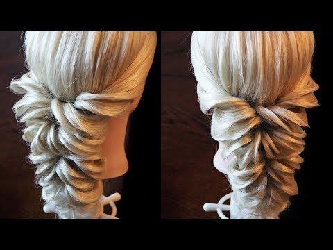прически из резинок на длинные волосы