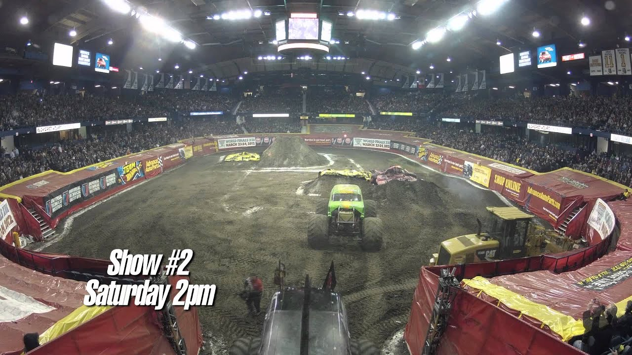 Advance Auto Parts >> Monster Jam - Advance Auto Parts Monster Jam Rosemont Monster Truck Track Build From Start To ...