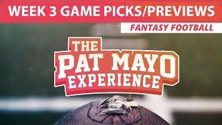 2017 Fantasy Football - Week 3 NFL Picks, Game Previews, Survivor Selections + Cust Corner Mini