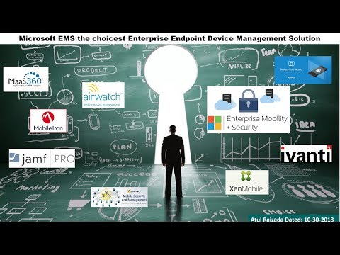 Microsoft EMS (Enterprise Mobility+Security) vs other MDM Solutions