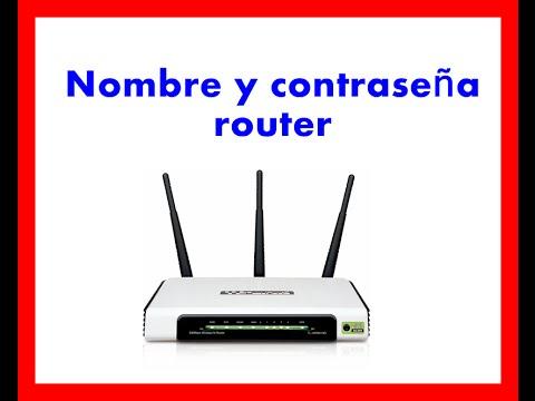 Como saber nombre de usuario y contraseña en router