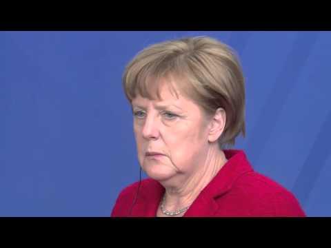 German Chancellor Angela  Merkel hosts Kenya's President Uhuru Kenyatta