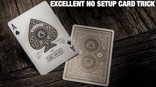 The BEST NO SETUP Card Trick To Perform Anywhere at Anytime!