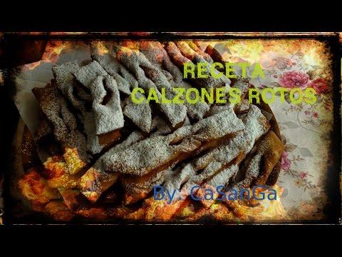 RECETA CALZONES ROTOS