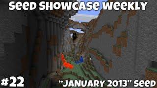 "Minecraft 1.4.7 || ""January 2013"" Seed Showcase || Epic Mountains! NPC Village!"