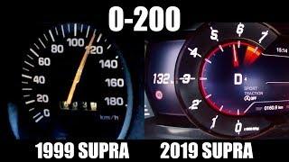 1999 Toyota Supra vs 2019 Toyota Supra [0-200km/h]