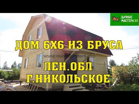 11.08.2017 Закончено строительство Дома 6х6 из бруса под ключ.Пестово.
