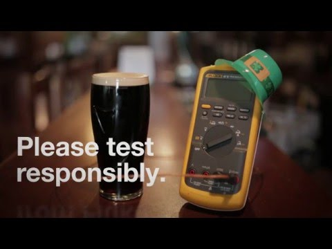 How to pour the perfect pint of Irish Stout with a Fluke 87V