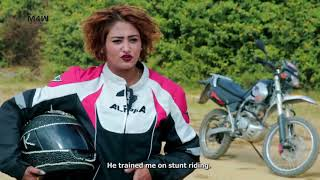 One of few female motorcycle stunt artists of Nepal: Kusum