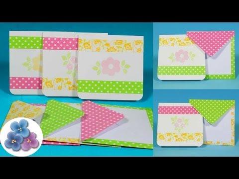 Como hacer tarjetas washi tape para regalos originales - Como realizar tarjetas navidenas ...