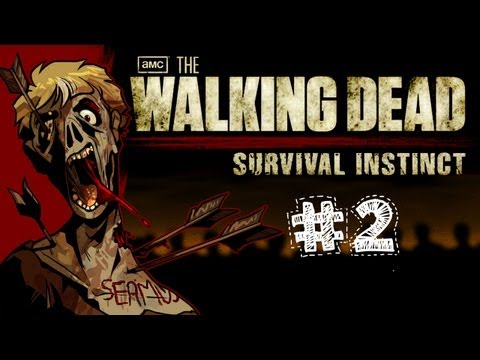 The Walking Dead Survival Instinct Gameplay / Walkthrough w/ SSoHPKC Part 2 - Zombie Chain Hug