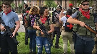 ARMED LEFTISTS RALLY AT ARIZONA STATE CAPITOL
