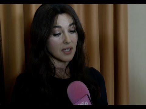 Monica Bellucci à Montréal pour le tournage du film Ville-Marie de Guy Édoin.