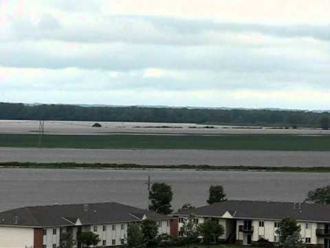 Blair, Nebraska 6/21/2011 Ridgeview Park view of Missouri River Flood