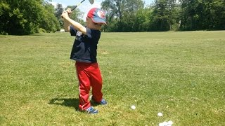 2 year old Golf Prodigy, King Weber: Toddler Golfer w the Phenom Swing