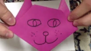 Faire Un Chat En Origami - Pliage Animal