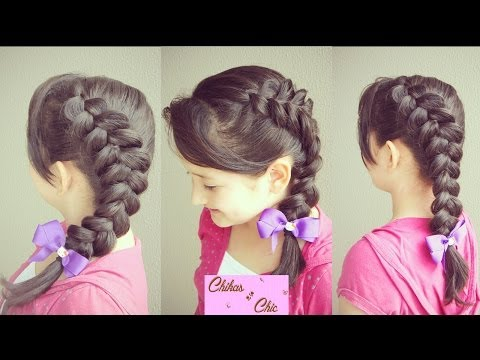Peinado: Trenza de Lado - Trenza Lateral (Holandesa) / Same Side Dutch Braid | Chikas Chic