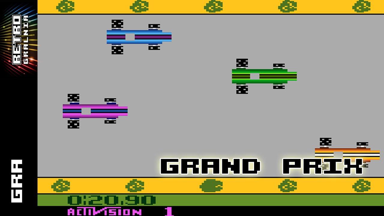 Jogos de Formula 1, F-1, Atari - by youtube.com