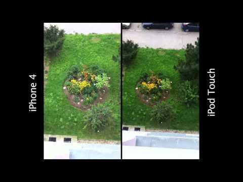 iPhone 4 vs. iPod touch 4 camera