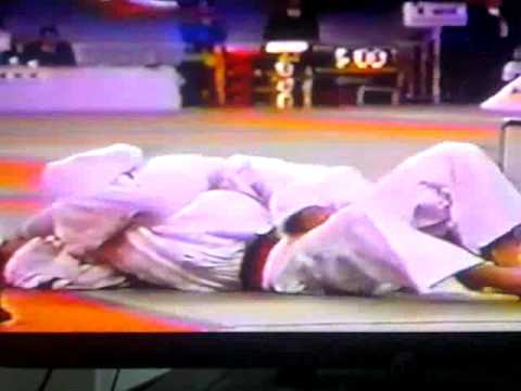 Judo Sankaku jime or triangle choke submission 1995 Image 1