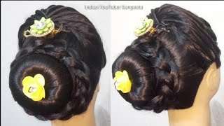 Beautiful bun hairstyle for wedding/party | hairstyles for girls | cute hairstyles | hair style girl