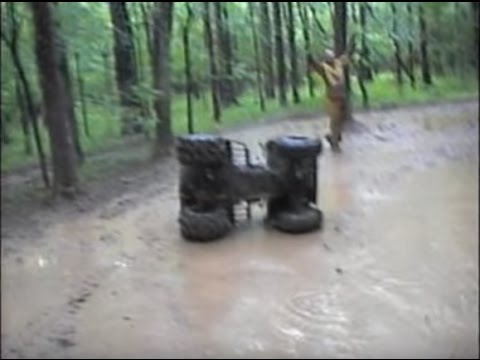 Lots of Sloppy 4 Wheeler Mudding and My Roll Over! LOL!