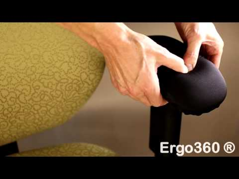 Ergo360 Chair Arm Pad Armrest Covers - Thick Memory Foam - Install Demo