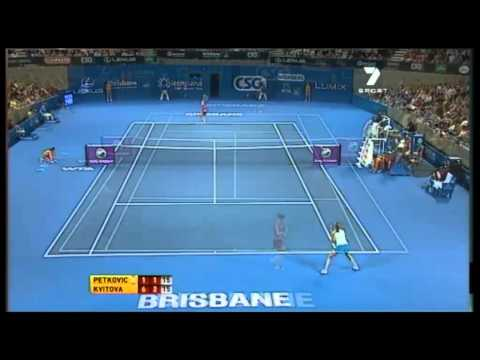 Brisbane International: Petkovic vs Kvitova Highlights