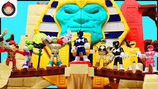 Imaginext Power Rangers Battle Serpent King at the Serpent Strike Pyramid - Unboxing Toy Video