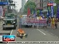 Ntvl: Mga Raliyistang Kontra Sa World Economic Forum, Nagsunog Ng Effigy