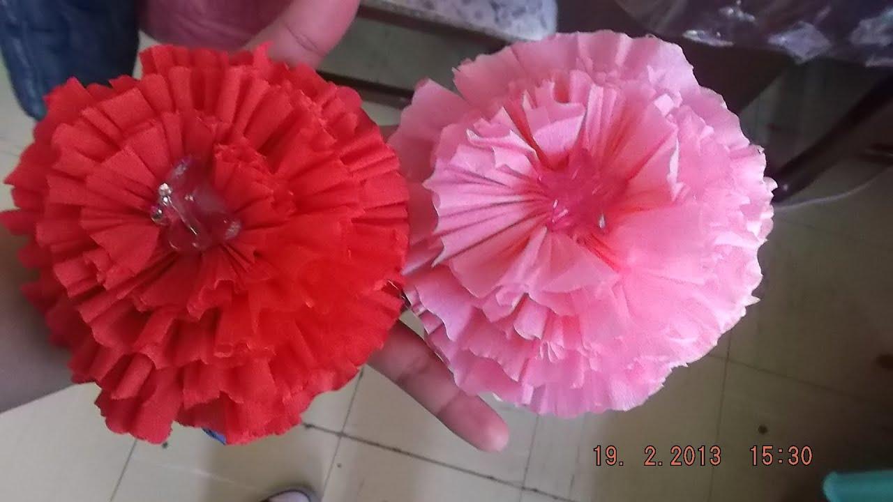 Flores de papel crep car interior design - Como hacer flores ...