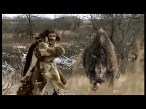 Neanderthal vs. Woolly Rhino - Explore - BBC Video