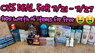 CVS DEAL for 7/21 - 7/27 free pads, toothpaste, body wash cheap makeup,and air care