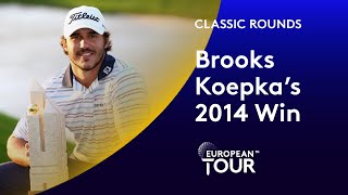 Brooks Koepka's 2014 Turkish Open Win | Classic Round Highlights