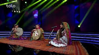 Folk performance by Afghan national theater team