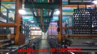 Full auto ABS line galvanization/zinc electroplating production line in ACTION