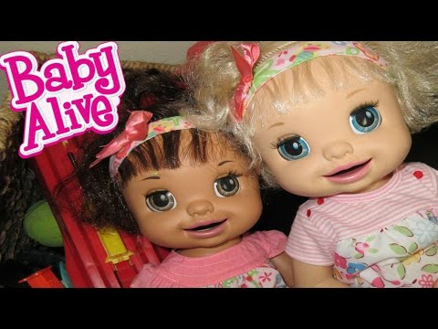 BABY ALIVE Ruby Snow Goes To Margie's House!!
