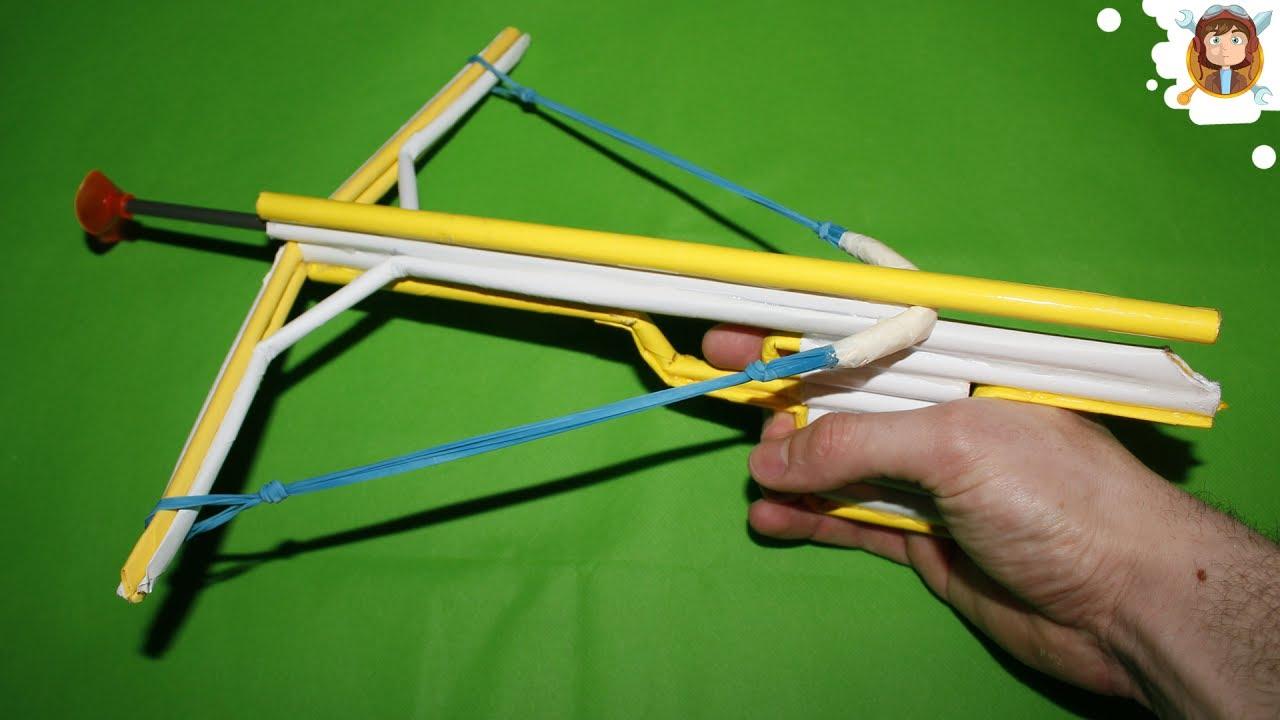 Как сделать из бумаги арбалет который стреляет